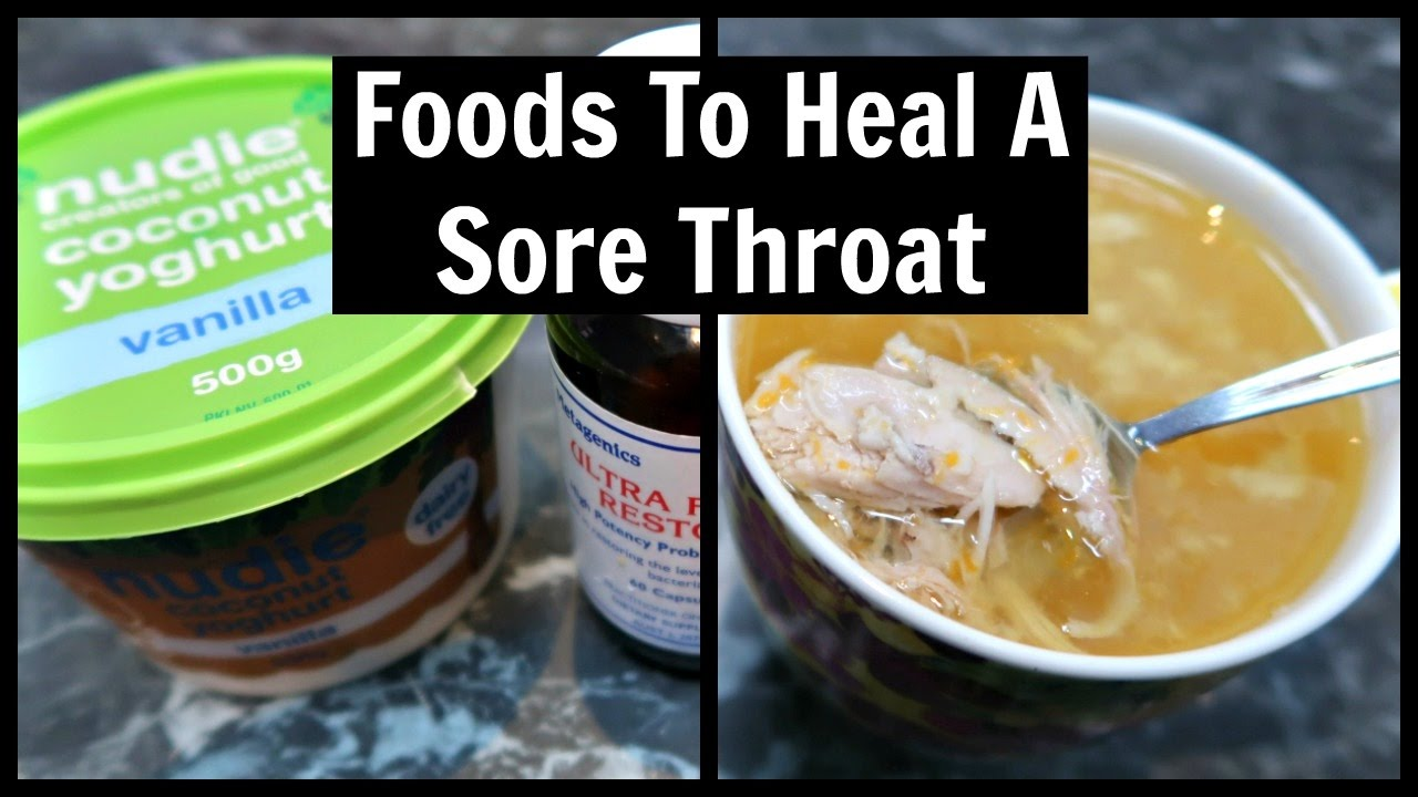 how to heal sore throat on keto diet