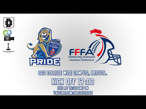 LIVE International American Football - Bristol Academy vs French Academy
