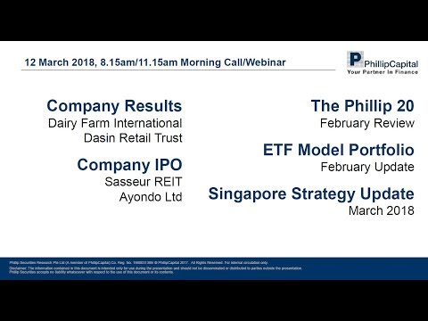Market Outlook: Singapore Companies Results, Company IPOs, Phillip 20 Portfolio, ETF Model Portfolio