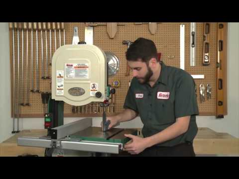 How to Align the Table on a G0555 Series Bandsaw - YouTube