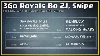 Clash of Clans -- Attack Tactics -- TH9 -- 3Go Royal Bo 2J, Hog or Loon Snipe (Aka 2J)