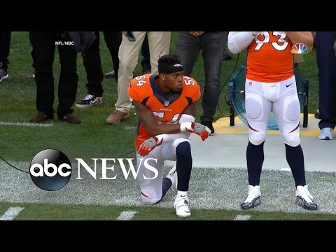NFL | Brandon Marshall Kneels During National Anthem