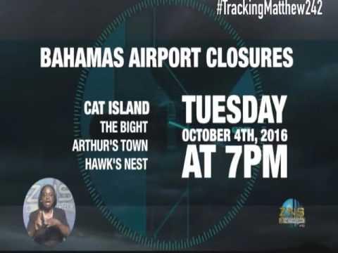 BAHAMAS AIRPORT CLOSURES