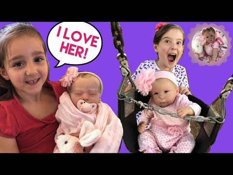 Aliyah Surprises her Cousin with a REBORN BABY Plus a PLAY at the PARK with REBORN Lily