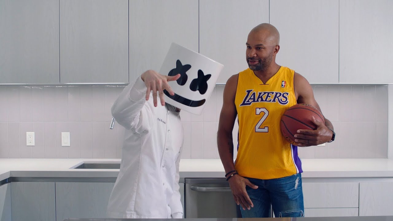DIY Ring Pops (Feat. LA Lakers — Derek Fisher) | Cooking with Marshmello