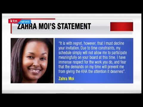 Zahra Moi: Why I declined appointment to Nairobi Hospital