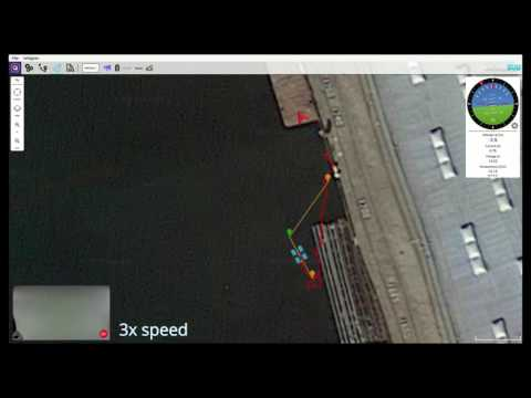 Water Linked Underwater GPS: Autonomous Waypoint Mission
