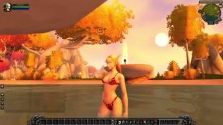 World of Warcraft Купание эльфийки блондинки (видео предоставлено ВАЛЕНТИНА КУДИШКИНА)