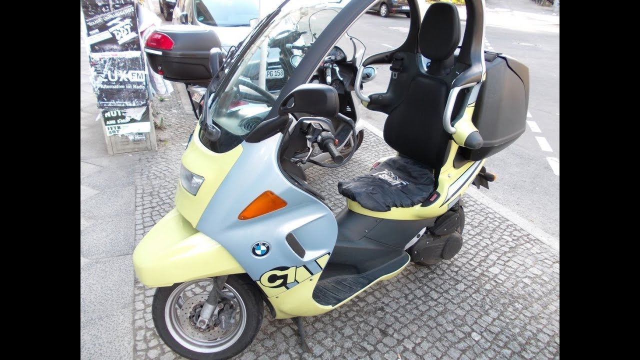 bmw c1 scooter with roof youtube. Black Bedroom Furniture Sets. Home Design Ideas