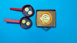 미니 색종이 피자, 후라이팬 장난감 놀이 세트 만들기/…