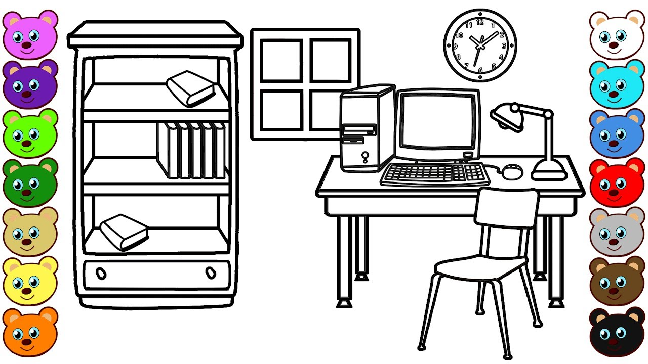 work room  coloring pages for children  youtube