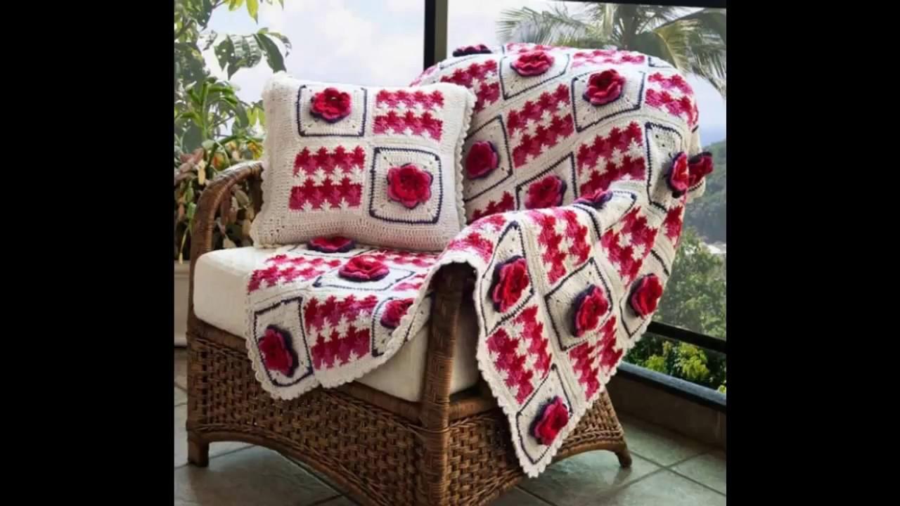 Capa de sofa em Crochê - YouTube