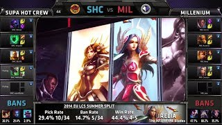 Video SUPA HOT CREW vs Millenium | S4 EU LCS Summer 2014 Week 4 Day 1 | SHC vs MIL W4D1 G2 download MP3, 3GP, MP4, WEBM, AVI, FLV Oktober 2018