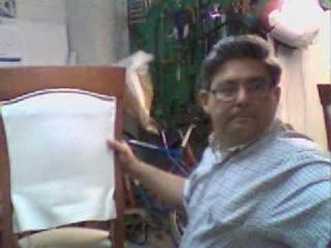Tapizando respaldo de silla youtube - Como tapizar una silla con respaldo ...