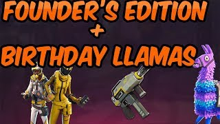 What the Limited Edition Upgrade Give You (FORTNITE Save The World) + Opening Birthday Llamas