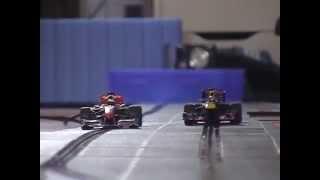 Carrera Digital 132 - Formel 1 Vettel vs. Hamilton - Red Bull vs. McLaren - slotcar - onboard cam