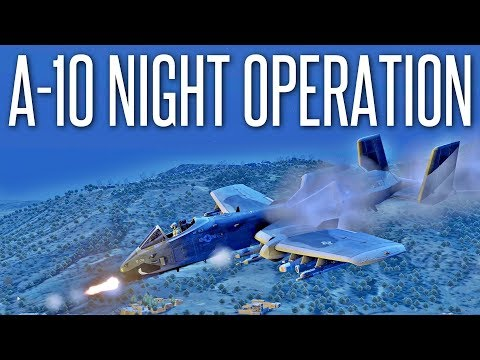 A-10D NIGHT OPERATION - ArmA 3 Aerial Support Mission