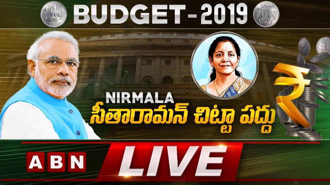 Budget 2019 Live Nirmala Sitharaman Presents Her First