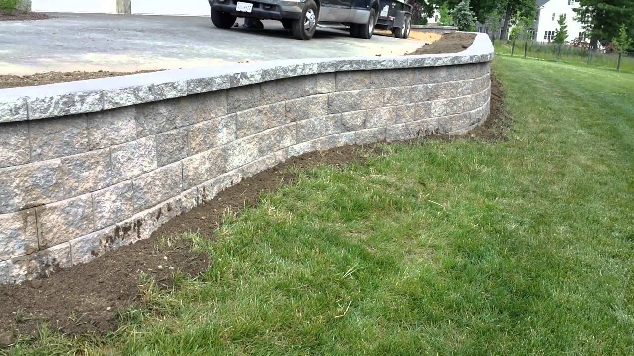 Retaining Wall Along Driveway In Potomac Md By Corad