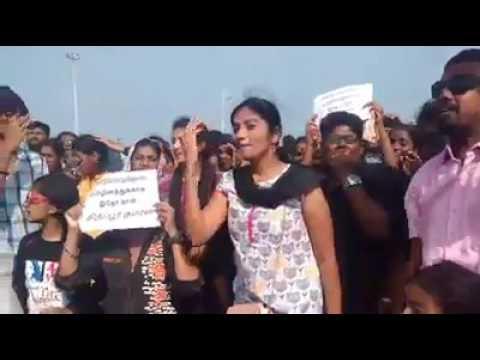 Tamil girl comedy speech about jallikattu...😂