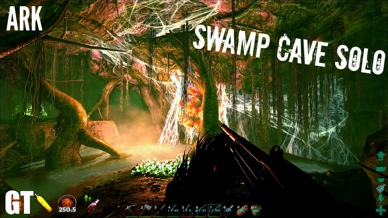 Soloing The Swamp Cave Dimorphs And Pteras Method Ark Survival