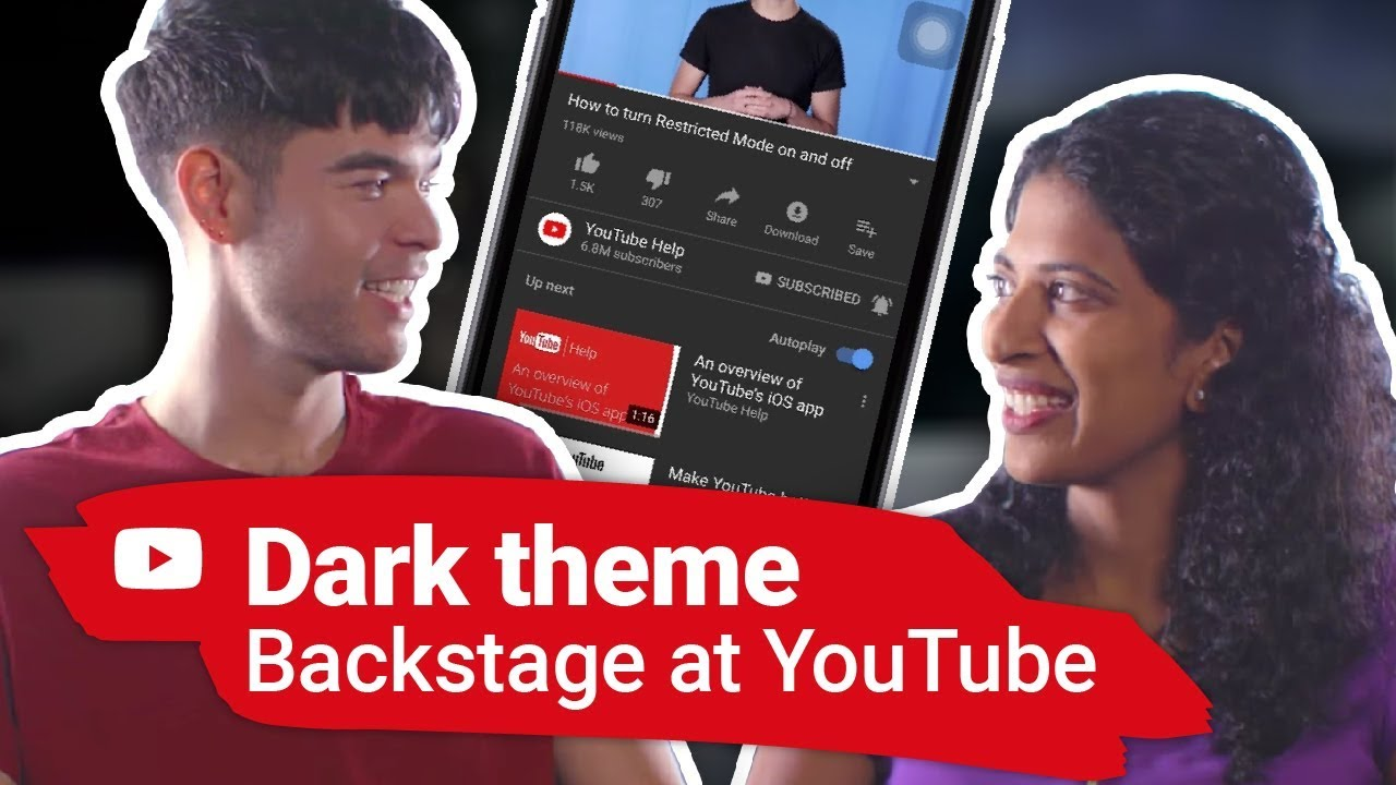 Dark Theme Backstage At Youtube