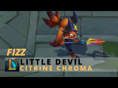 Little Devil Fizz Citrine Chroma - League Of Legends