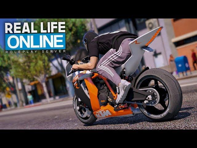 Mit der KTM abhauen! 😎 - GTA 5 Real Life Online