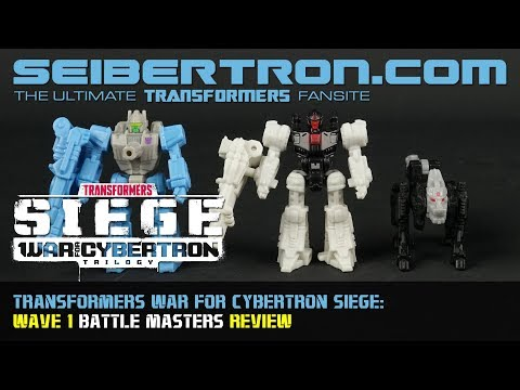 Transformers War for Cybertron Siege Battle Masters Wave 1 review from Seibertron.com