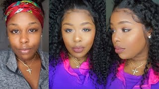 Full Transformation Quick Beat Face and A Wig ft. Lwigs.com