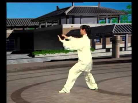二十四式太极拳 太极女子全能冠军吴阿敏 6分钟背向领练 Taiji-24-back