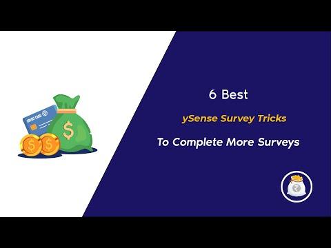 6 Best Ysense Survey Tricks to complete more Paid Surveys