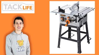 TACKLIFE Table Saw Review // Jobsite Table Saw With Stand Installation