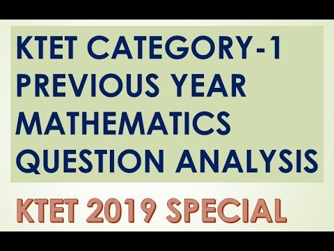 Repeat KTET EXAM Answer Key 2018 || 20Oct2018||Category 1