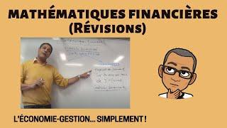 Révision des Mathématiques financières (DUT TC - LE CREUSOT)
