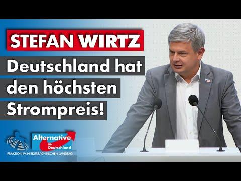 Deutschland hat den höchsten Strompreis! Stefan Wirtz, MdL (AfD)