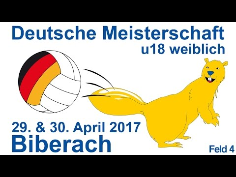 Deutsche Meisterschaft U18w 2017 in Biberach Sonntag Feld 4