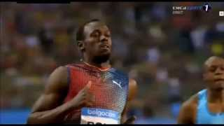 2013 Diamond League Brussels men 100m: Usain Bolt overcomes sluggish 1st half to triumph in 9.80