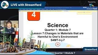 Quarter 1 Science 4 Moḋule 7