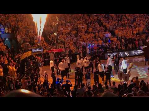 nba finals 2017 warriors intro @ oracle arena