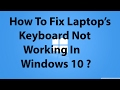 how to fix keyboard not working in windows 8.1 or 10 || by For Friend