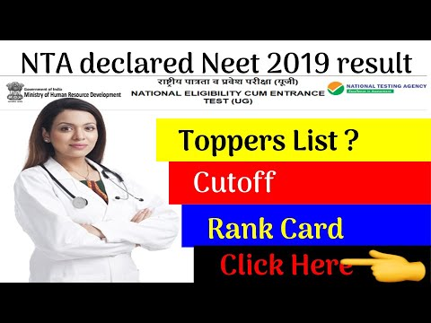 NEET 2019 Cut Off Marks Merit List Result Counselling State Wise
