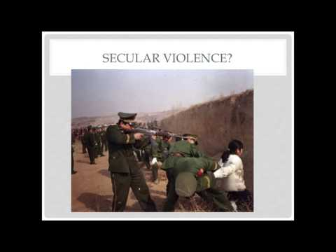 """William Cavanaugh lectures, """"Does Religion Promote Violence?"""""""