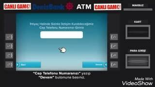 CanliGame.Com - Denizbank atm'den kartsız para yatırma