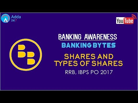 Banking Awareness: Shares and Types Of Shares for IBPS Exam 2017