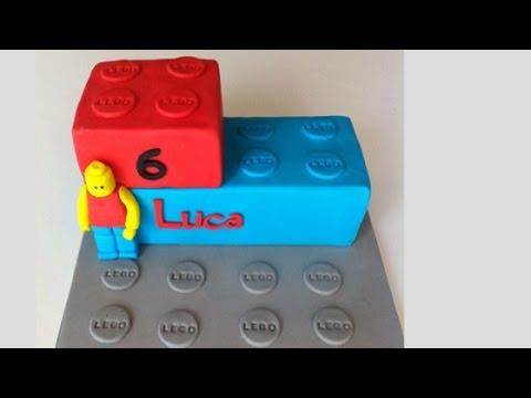 LEGO MotivtorteFondant TorteGeburtstagstorteLegosteinAnleitung deutsch  YouTube