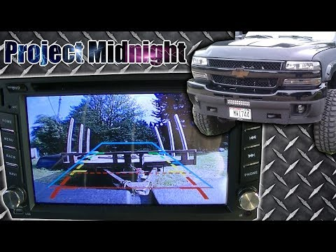 Project Midnight Backup Camera With Double Din Install