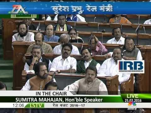 Rail Minister Suresh Prabhu Rail Budget Speech