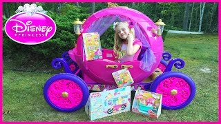 disney princess carriage ride on power wheels surprise toys hunt w num noms toys play doh girl
