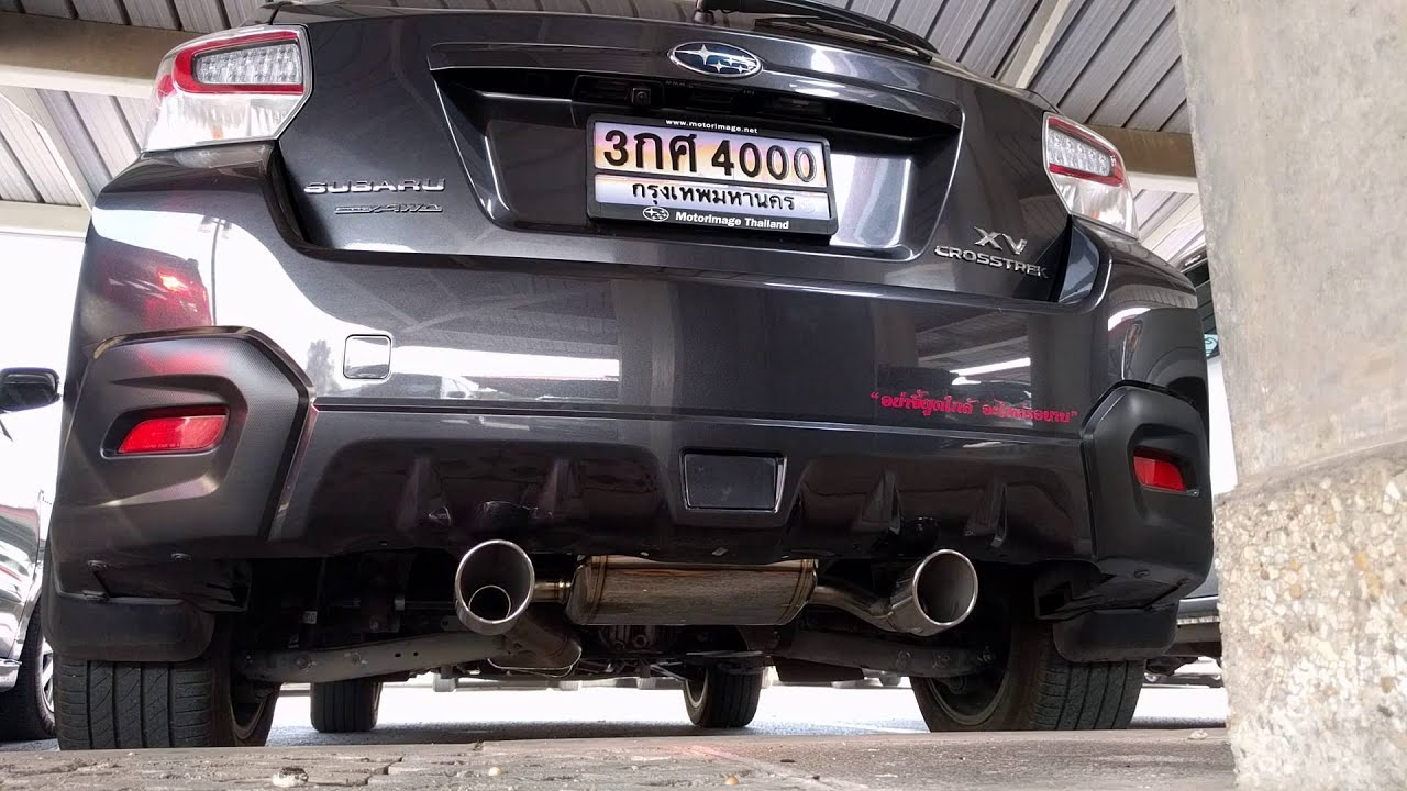 subaru xv vs sti rear section exhaust